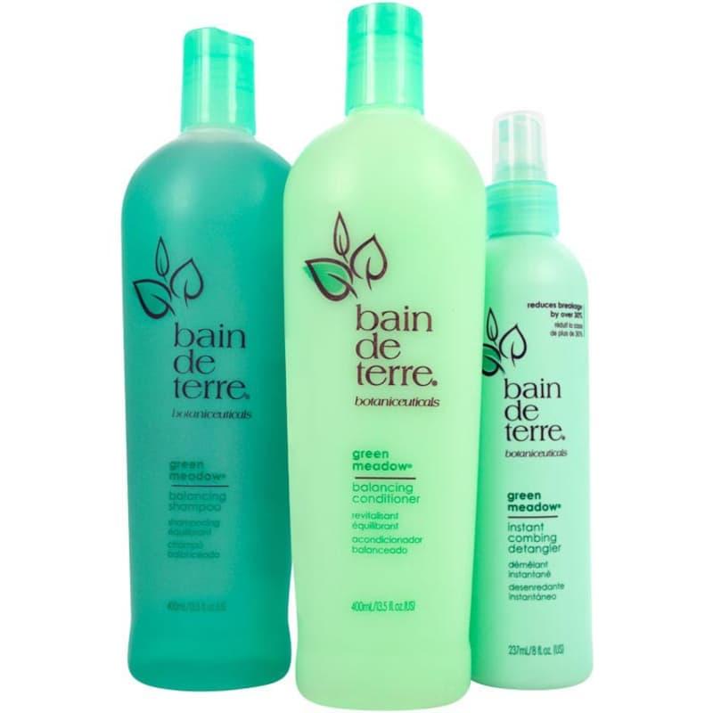Bain de Terre Green Meadow Rise and Shine Kit (3 Produtos)