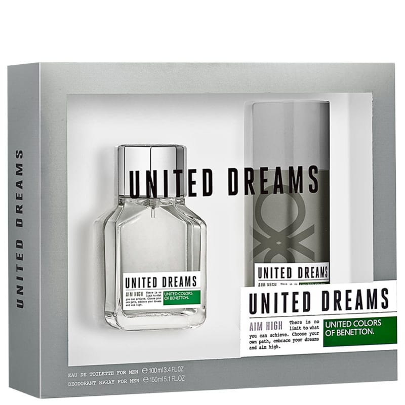 Conjunto United Dreams Aim High Benetton Masculino - Eau de Toilette 100ml + Desodorante 150ml