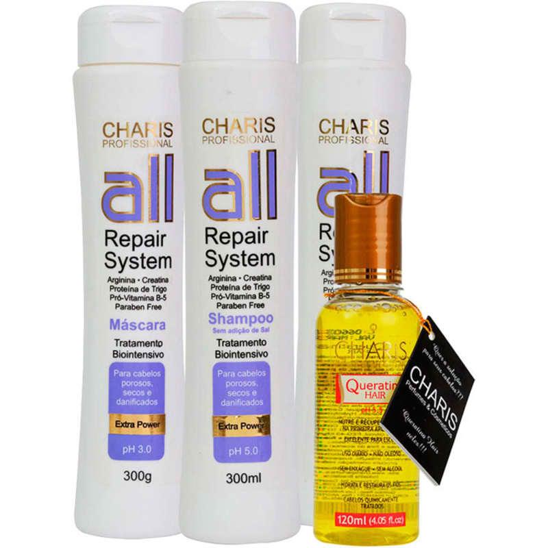 Kit Charis All Repair System Queratina Hair (4 Produtos)