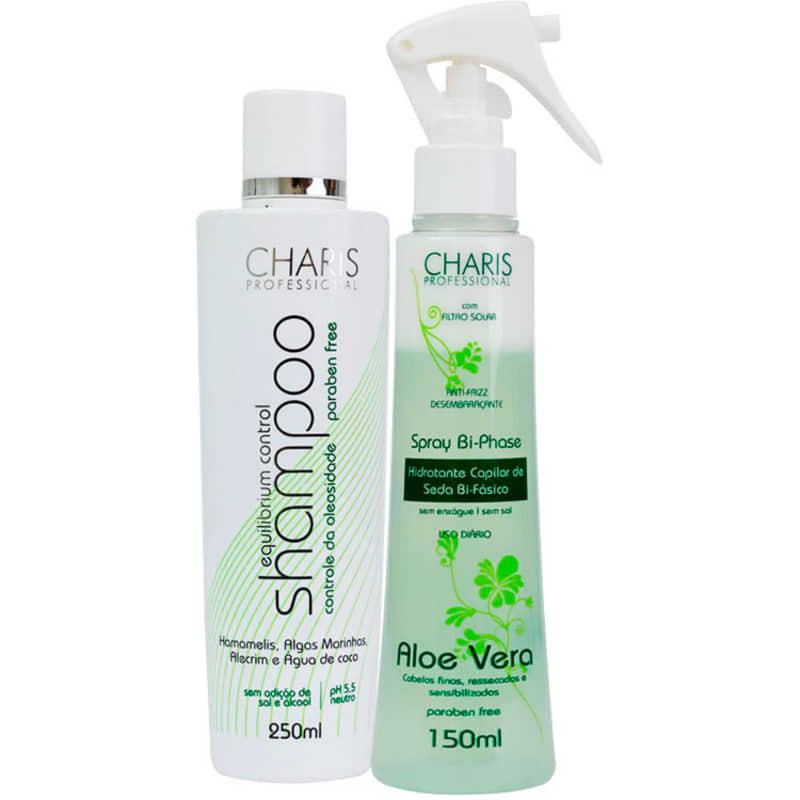Charis Equilibrium Control Bi-Phase Aloe Vera Duo Kit (2 Produtos)