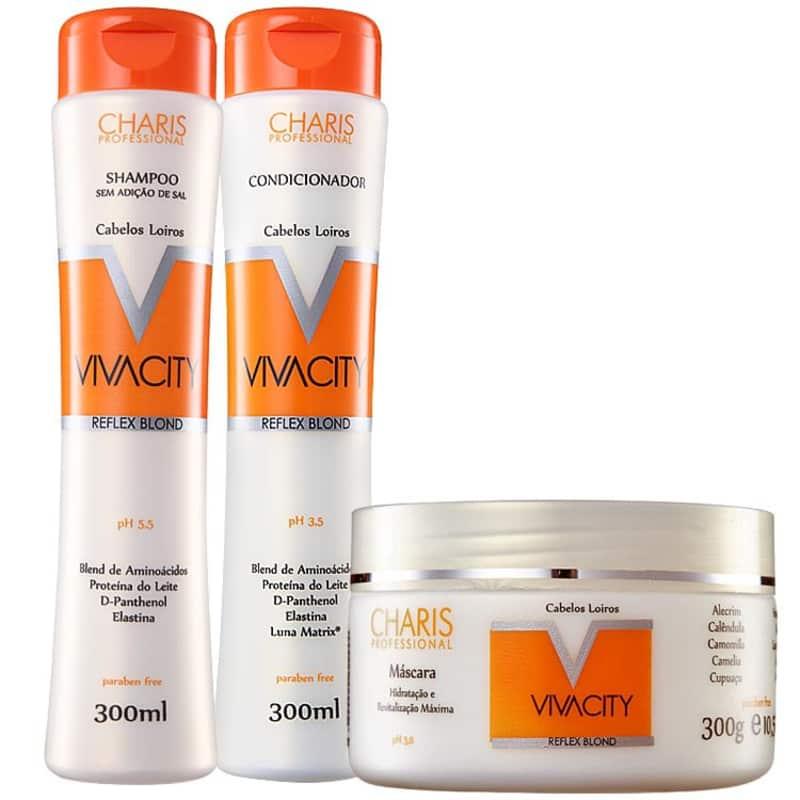 Kit Charis Vivacity Reflex Blond Tratamento (3 Produtos)