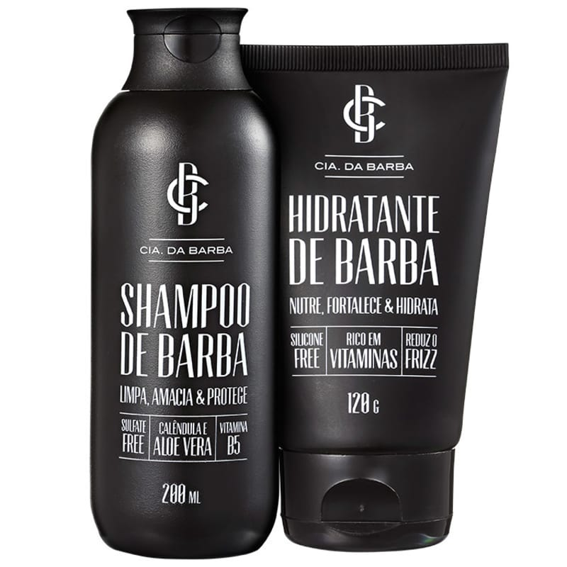 Kit Barba Cia da Barba - Shampoo 200ml + Hidratante 120g