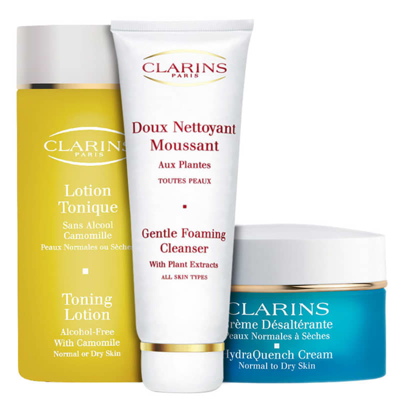 Kit Clarins Nettoyant With Camomile Hydraquench (3 produtos)
