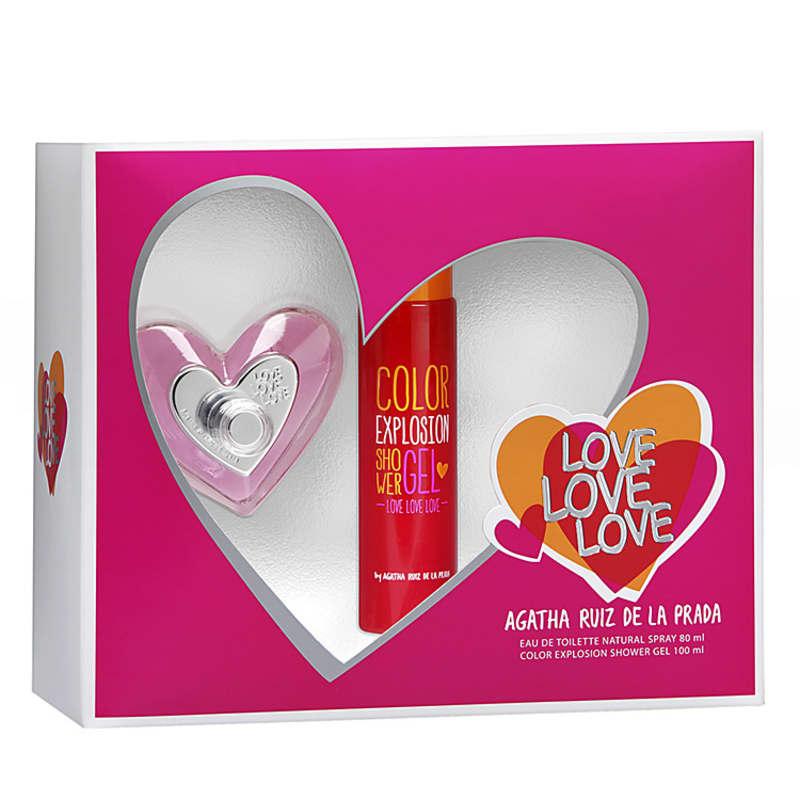 Conjunto Love Love Love Agatha Ruiz de La Prada Feminino - Eau de Toilette 80ml + Gel de Banho 100ml