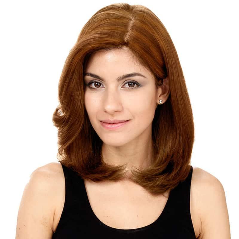 Crown Wigs Carol Castanho Médio/Claro - Peruca 35cm
