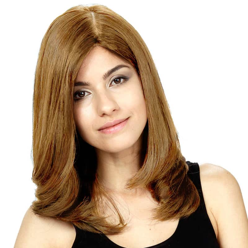 Crown Wigs Diana Castanho Claro/Louro Médio - Peruca 45cm