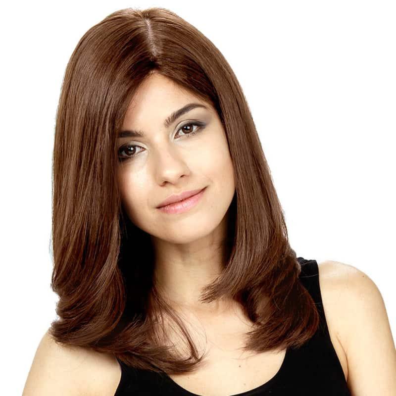 Crown Wigs Diana Castanho Médio/Claro/Louro Escuro - Peruca 45cm