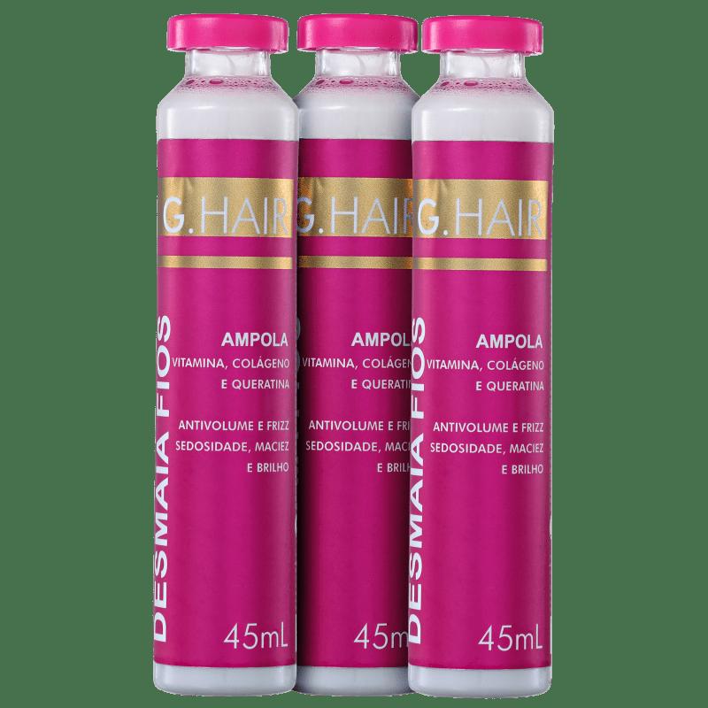 G.Hair Desmaia Fios - Ampola Capilar 3x45ml