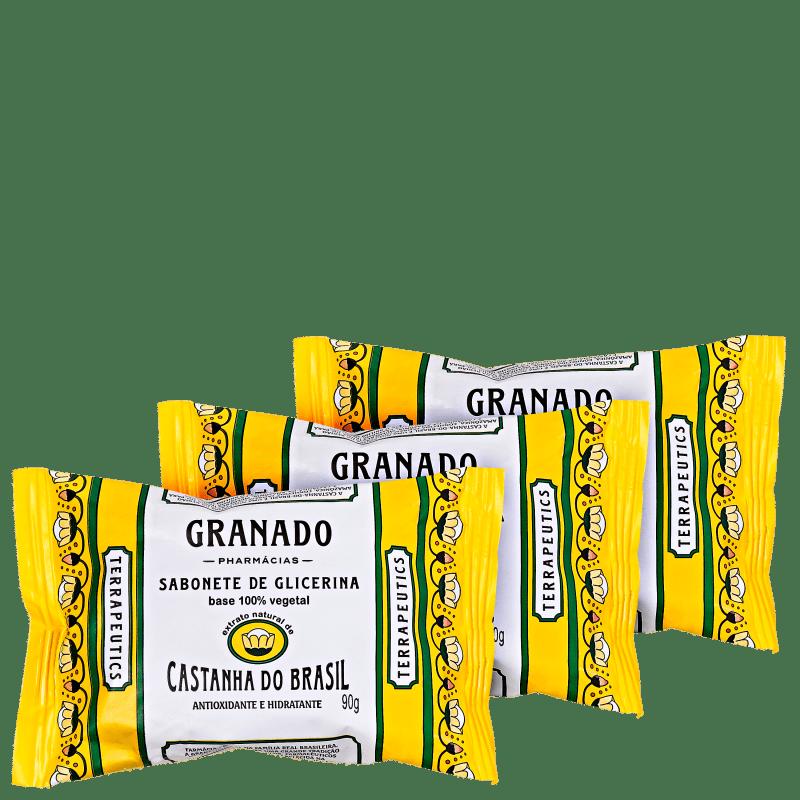 Granado Terrapeutics Castanha do Brasil de Glicerina - Sabonete em Barra 3x90g