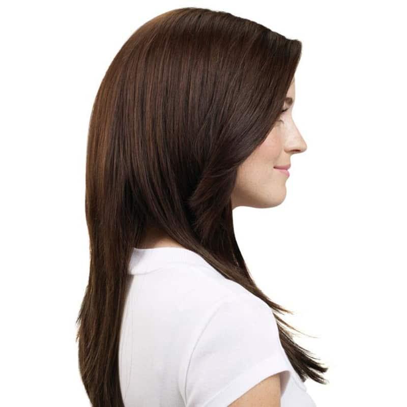 Hairdo Chocolate Com Mechas Cobre - Aplique Liso em Camadas 48cm