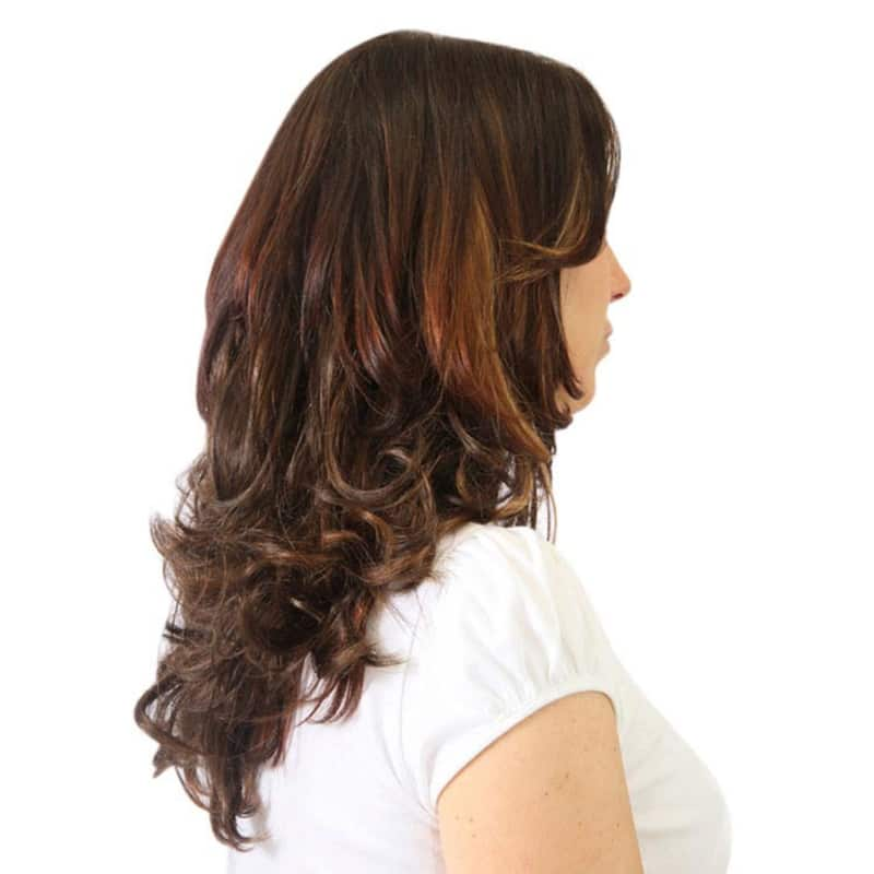 Hairdo Chocolate Com Mechas Cobre - Aplique Ondulado 45cm