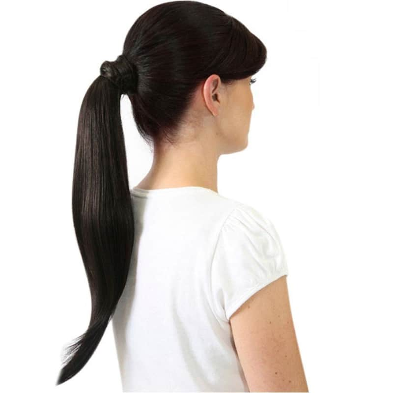 Hairdo Castanho Super Escuro - Aplique Rabo de Cavalo Liso 46cm