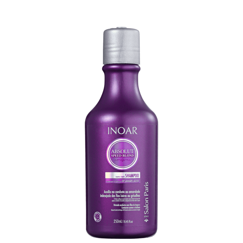 Inoar Absolut Speed Blond - Shampoo Desamarelador 250ml