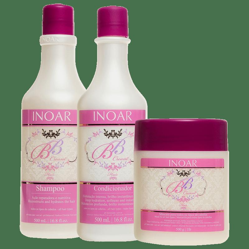 Inoar BB Cream Hair Trio Kit (3 Produtos)