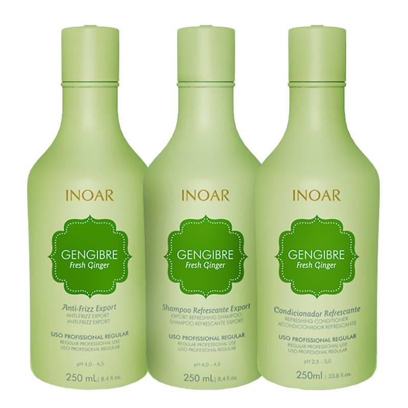 Kit Inoar Gengibre Fresh Ginger Trio Care (3 Produtos)