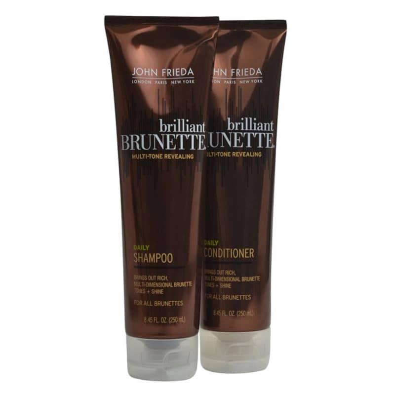 John Frieda Brilliant Brunette Daily Duo Kit (2 Produtos)