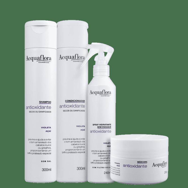 Kit Acquaflora Antioxidante Secos ou Danificados Completo (4 Produtos)