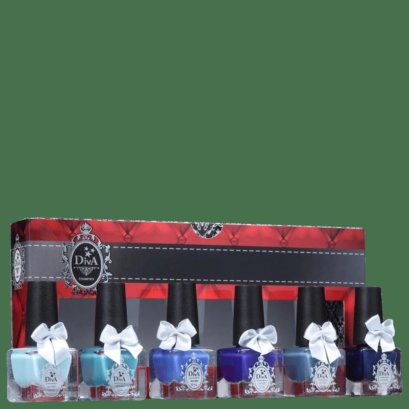 Kit Diva Cosmetics Tudo Blue (6 Produtos)