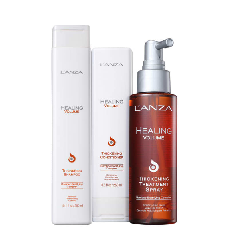 Kit L'Anza Healing Volume Treatment (3 Produtos)