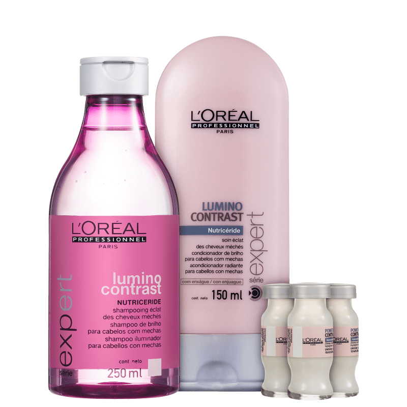 Kit L'Oréal Professionnel Expert Lumino Contrast Color Repair (3 Produtos)