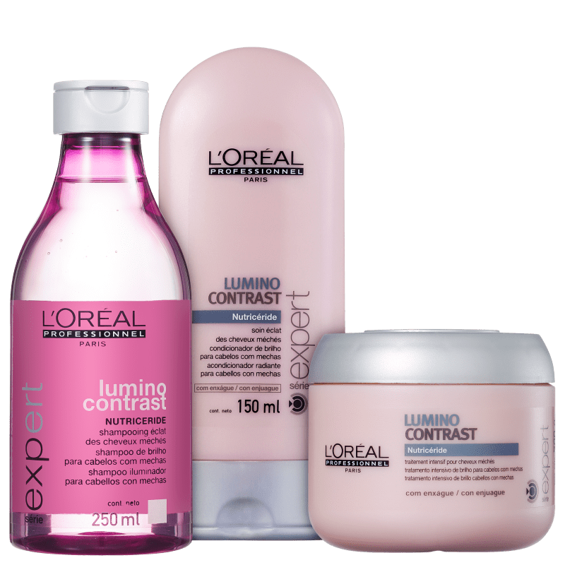 Kit L'Oréal Professionnel Expert Lumino Contrast Shine Treatment (3 Produtos)