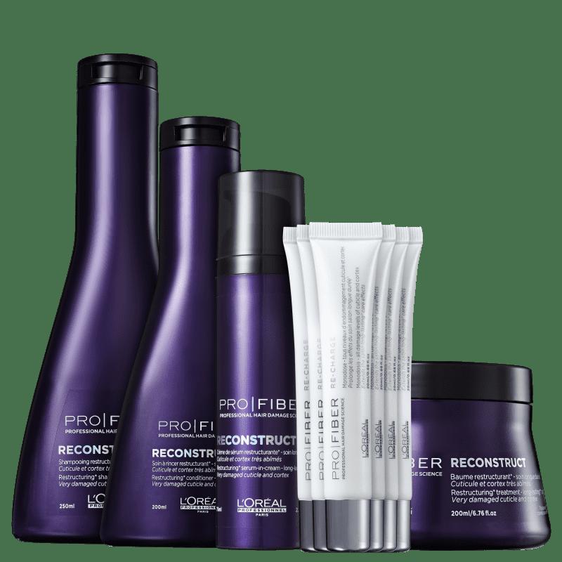 Kit L'Oréal Professionnel Pro Fiber Reconstruct Re-Charge (5 Produtos)