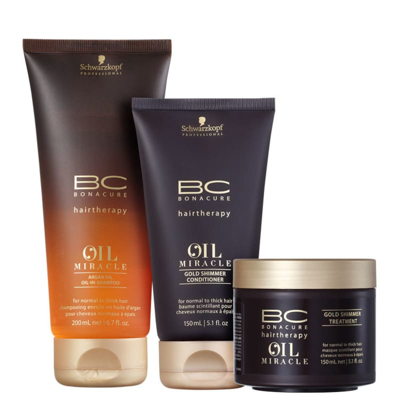 Kit Schwarzkopf Professional BC Bonacure Oil Miracle Tratamento Triplo (3 Produtos)