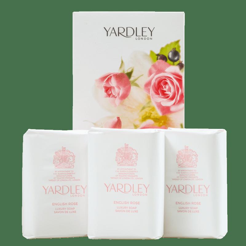 Kit Yardley English Rose Luxury - Sabonetes em Barra 3x100g