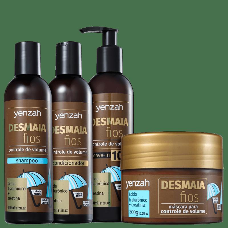 Kit Yenzah Desmaia Fios Completo (4 Produtos)