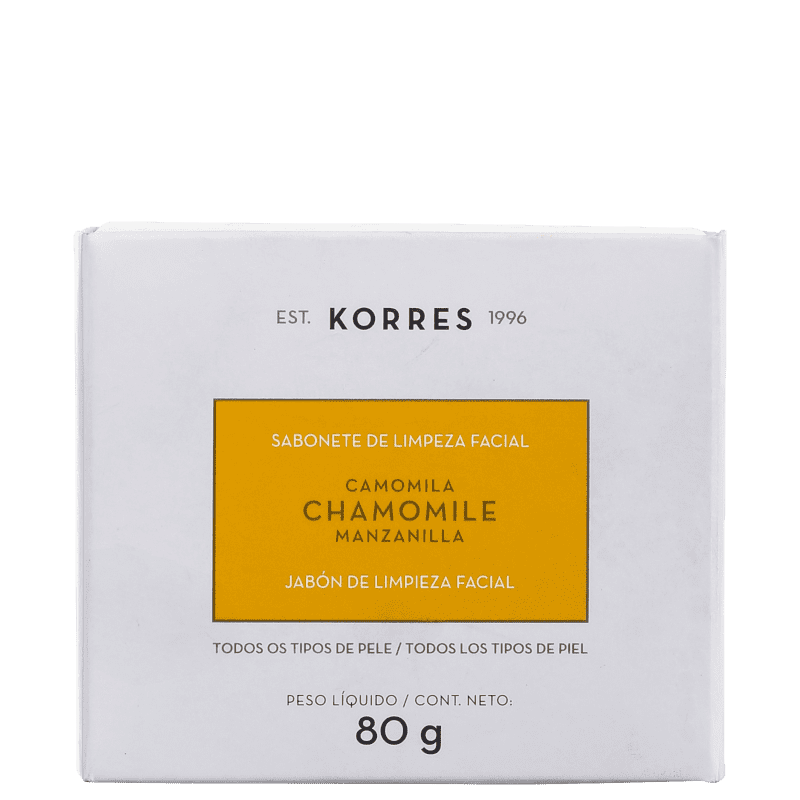Korres Camomila - Sabonete de Limpeza Facial 80g