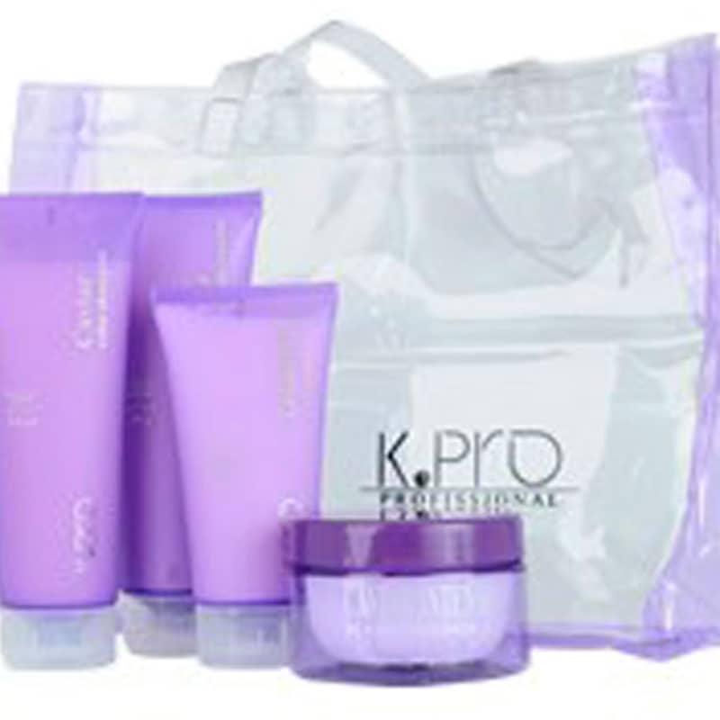 Kit K.Pro Caviar Cabelos Grossos Tratamento Intenso + Bolsa de Praia (4 Produtos)