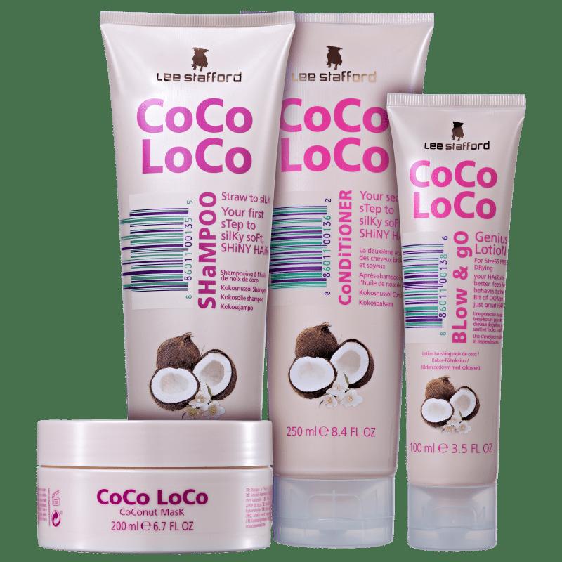 Kit Lee Stafford Coco Loco Complete (4 Produtos)