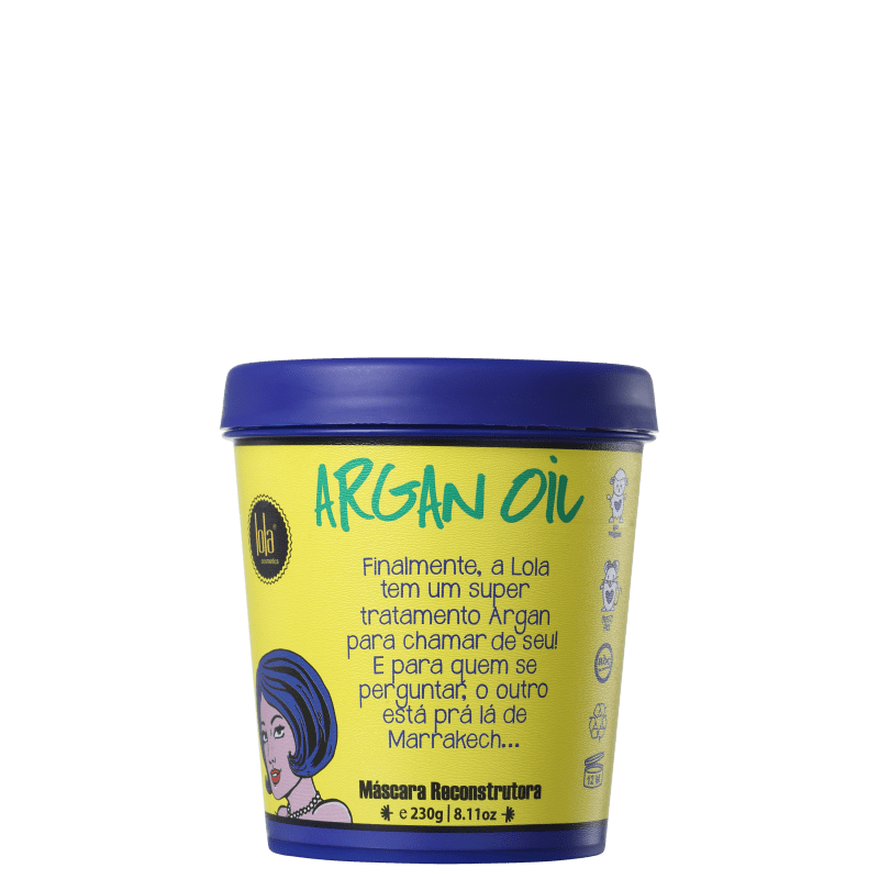 Lola Cosmetics Argan Oil - Máscara Capilar 230g