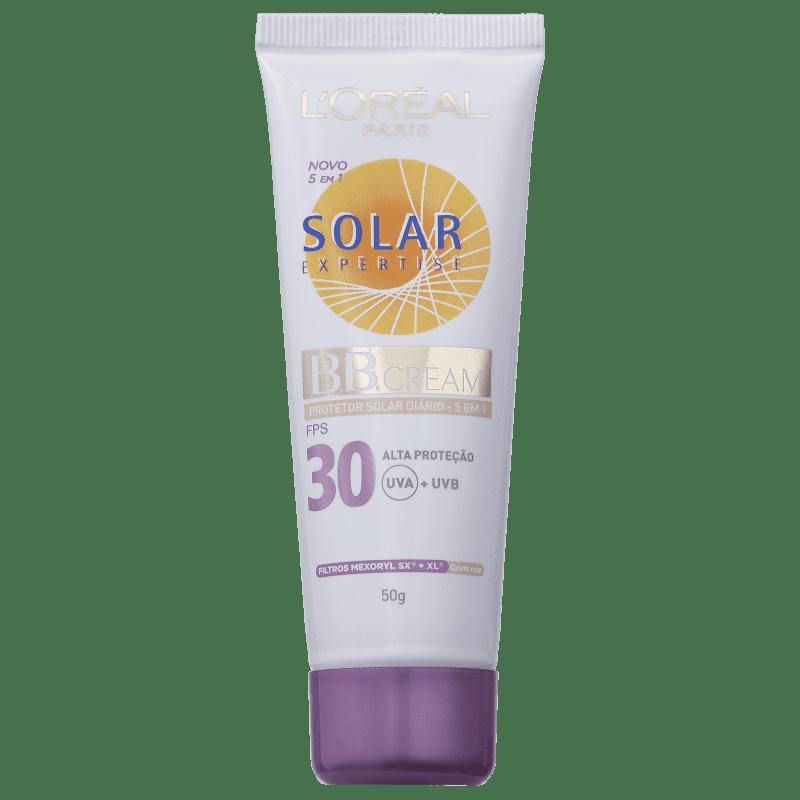 L'Oréal Paris Solar Expertise Protetor Solar Diário 5 em 1 com Cor FPS 30 - BB Cream 50g