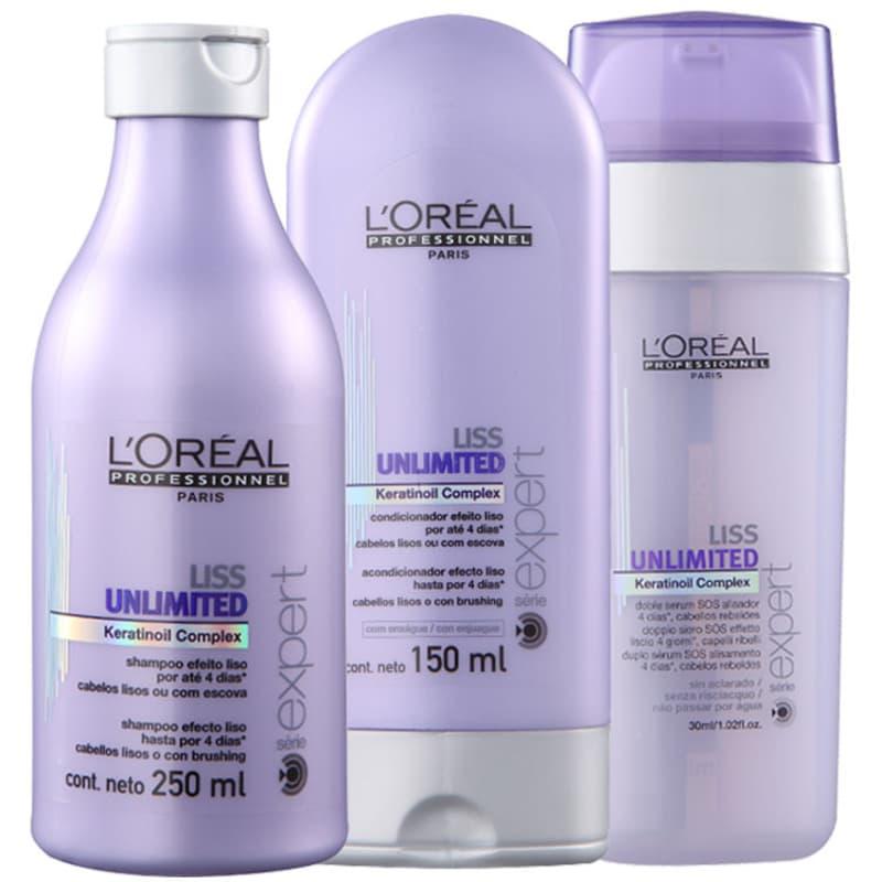Kit L'Oréal Professionnel Expert Liss Unlimited Sos (3 Produtos)