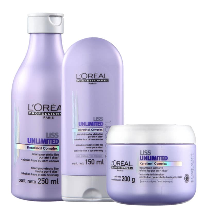 Kit L'Oréal Professionnel Expert Liss Unlimited Trio (3 Produtos)