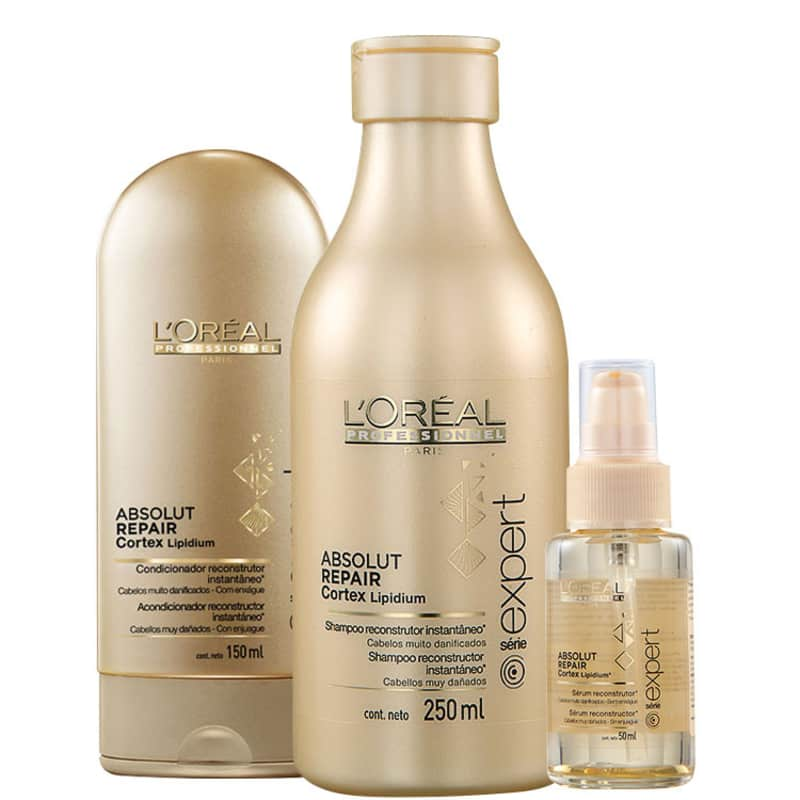 Kit L'Oréal Professionnel Expert Absolut Repair Cortex Lipidium Trio (3 Produtos)