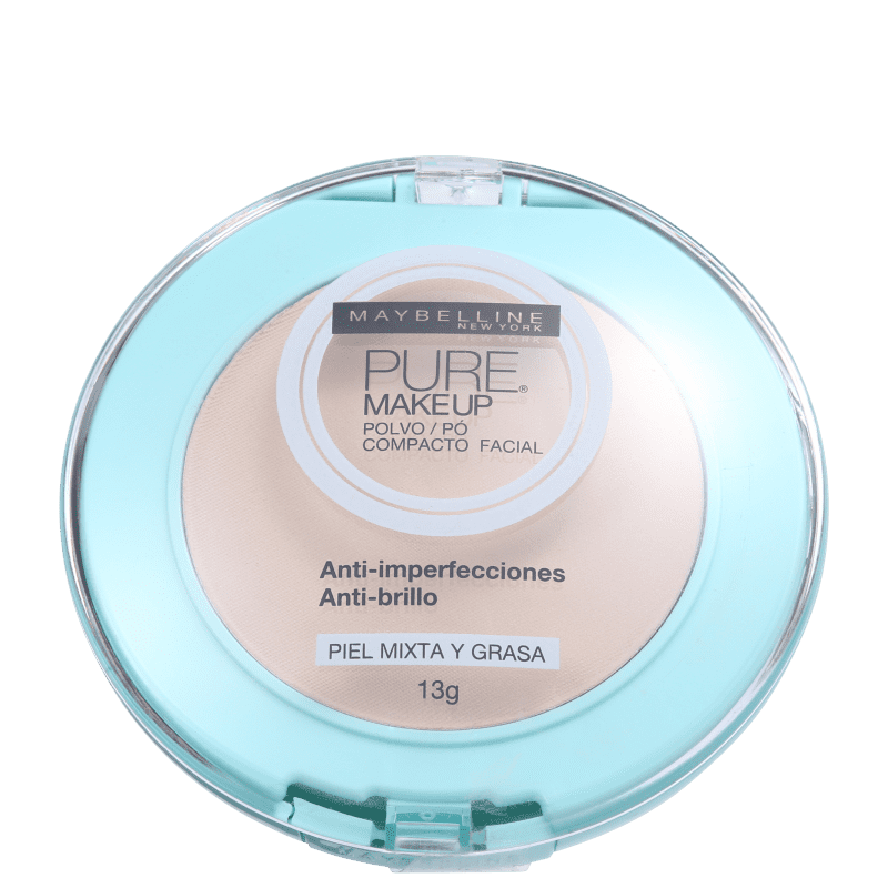 Maybelline Pure Makeup Bege Claro - Pó Compacto Natural 13g