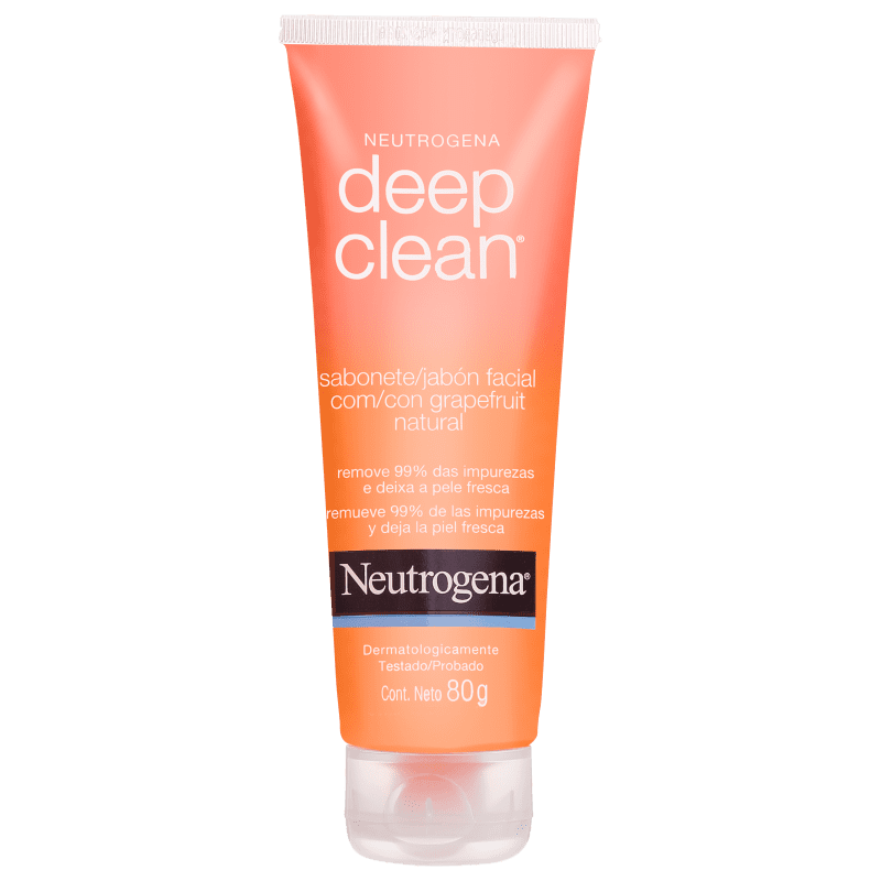 Neutrogena Deep Clean Grapefruit - Gel de Limpeza Facial 80g
