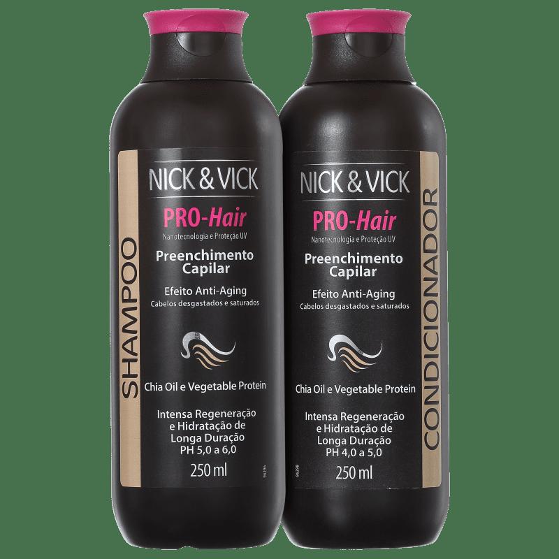 Kit Nick & Vick PRO-Hair Preenchimento Capilar Anti-Aging (2 Produtos)