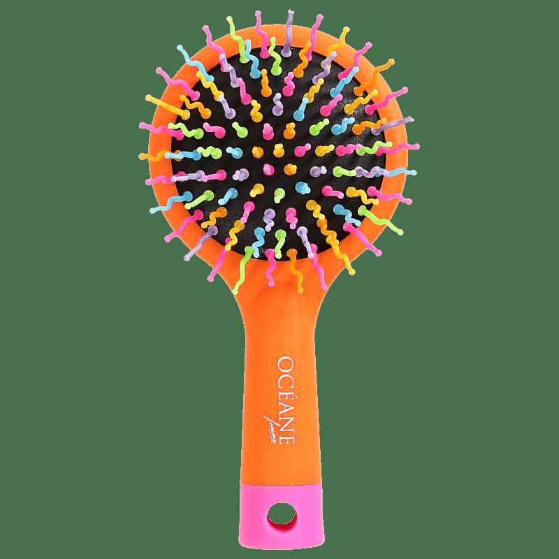Océane Rainbow Brush Laranja - Mini Escova de Cabelo