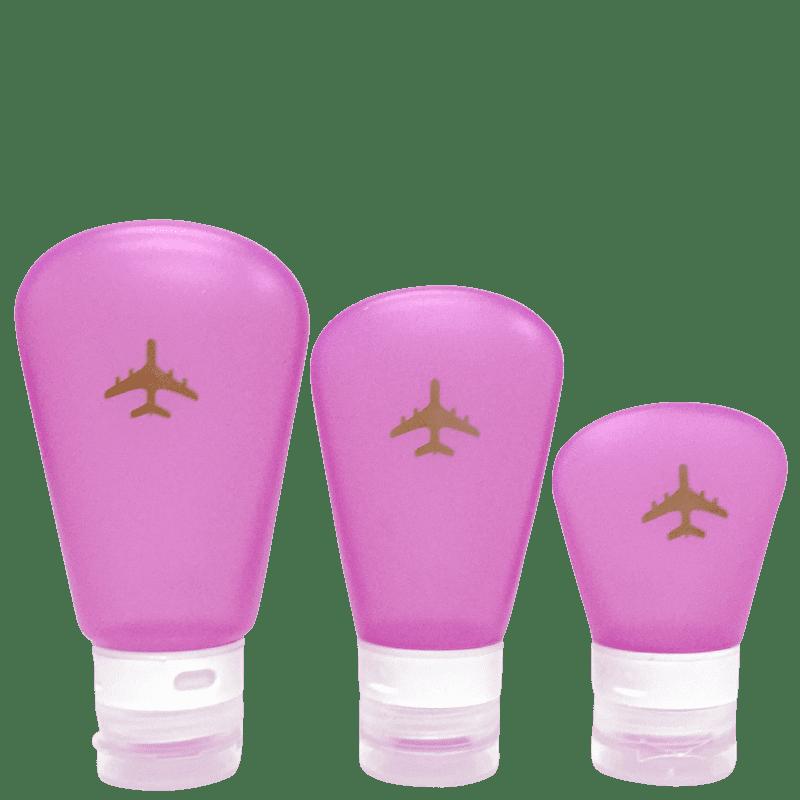 Kit Trip Glam Frascos de Silicone para Viagem