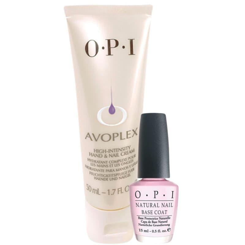 OPI Creme Intensivo Avoplex + Natural Nail Base Coat Kit (2 Produtos)