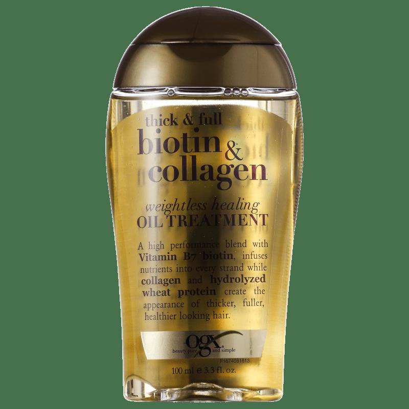 Organix Biotin & Collagen Weightless Healing Oil Treatment - Óleo de Tratamento 100ml