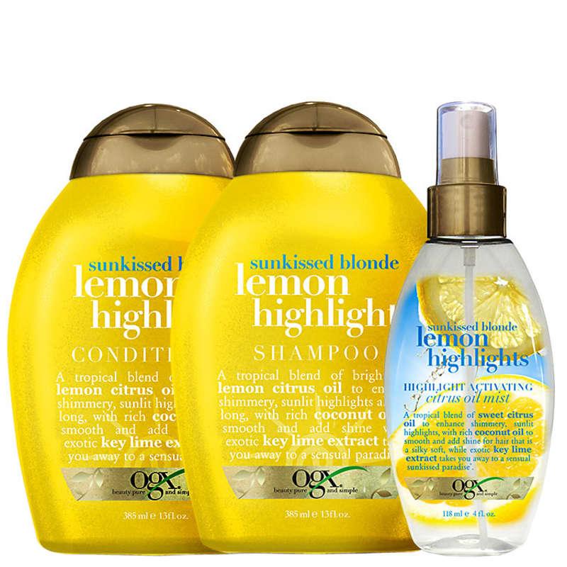 Organix Lemon Highlights Citrus Kit (3 Produtos)