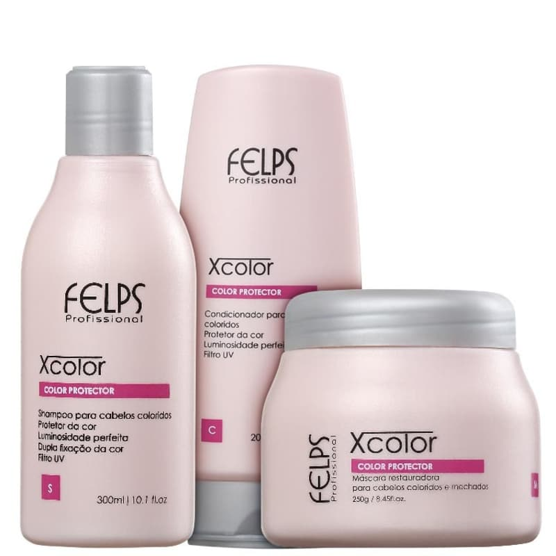 Kit Felps Profissional XColor Tratamento (3 Produtos)