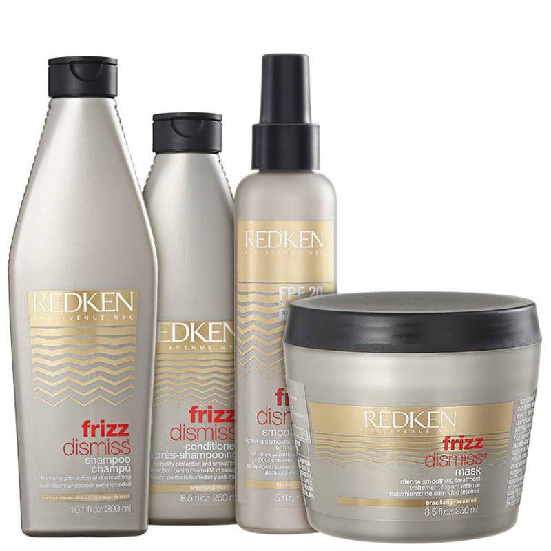 Kit Redken Frizz Dismiss Smooth Force FPF20 (4 Produtos)