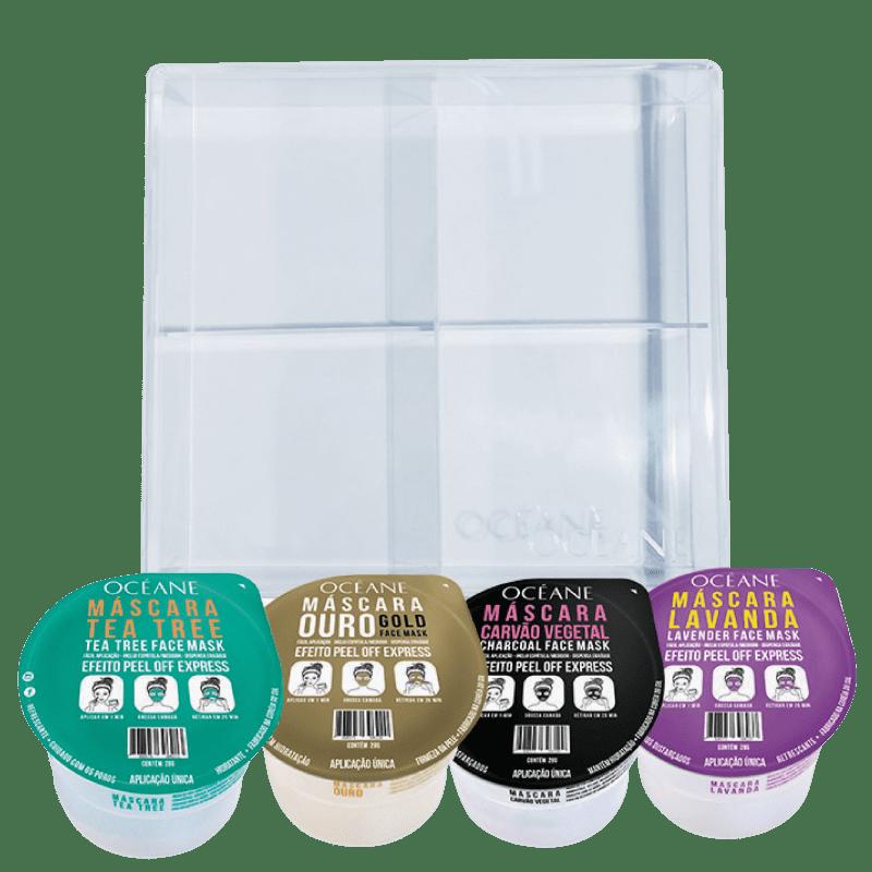 Kit Máscaras Faciais com Caixa (4 Produtos)
