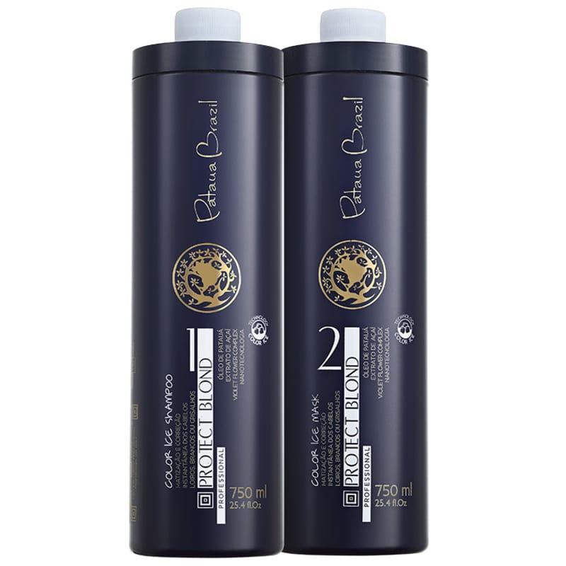 Kit Pataua Brazil Protect Blond Color Ice Profissional Duo (2 Produtos)