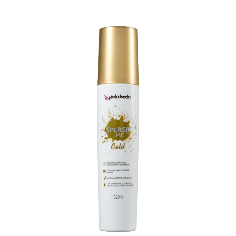 Pink Cheeks Splash Me Gold - Spray Hidratante Corporal 120ml